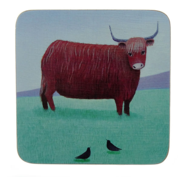 6 Highland Cow Coasters