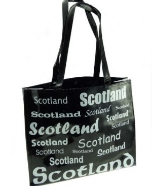 Scotland Vinyl Shopping Bag