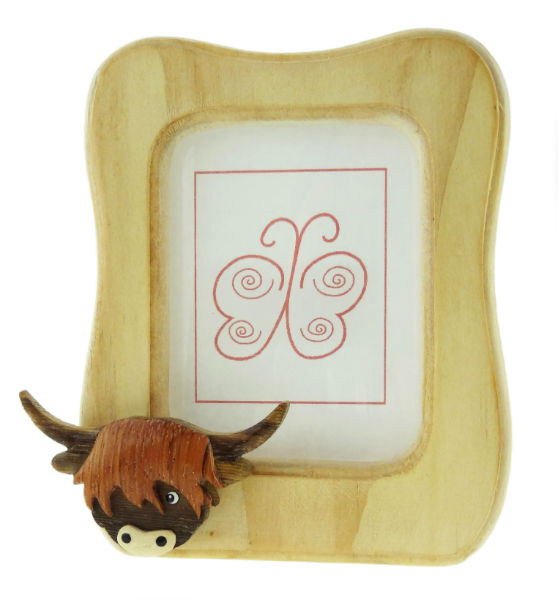 Wooden Cow Photo Frame