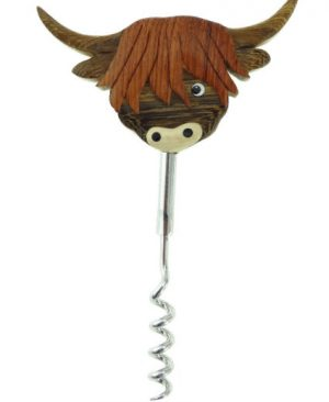 Wooden Cow Corkscrew