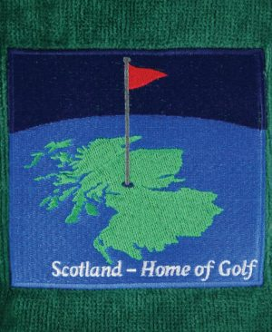 Scotland Map Golf Towel