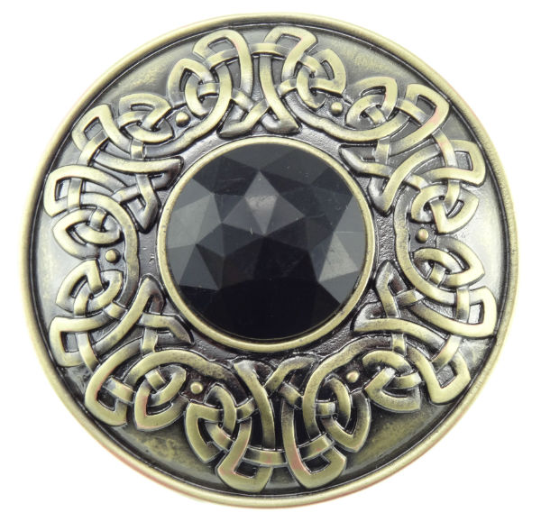 Round Brooch with Centre Stone