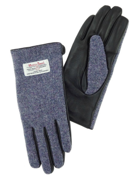 Ladies Gloves with Black Leather