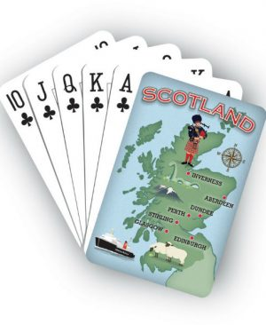 Playing Cards - Scotland Map